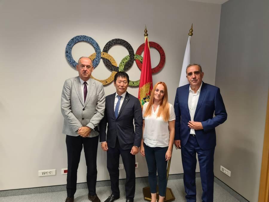 Predsjednik Svjetske gimnstičke federacije i član MOK-a, M. Vatanabe, posjetio Crnogorski olimpijski komitet